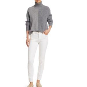 Theory Cashmere Colorblock Turtleneck Sweater